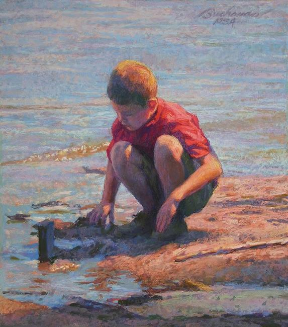 "Clayton Buchanan CPS, ""Searching the Shore,"" pastel"