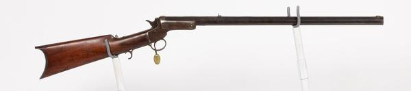 "1864 J.M.  Stevens & Co.  presentation rifle engraved ""from Buffalo Bill to Night-Hawk & Broncho Bill"" and one of J.M.  Davis's prized possessions ($18,125)."