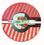 """C.  J.  Yao acrylic-on-canvas, """"Flying Crane"""""""
