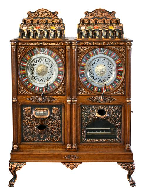 Caillie double-upright slot machine with music sold for $75,000 at Witherell's Western Design Auction