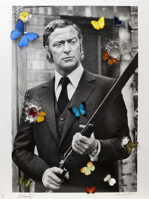 Hollywood Re-loaded Michael Caine by Bran Symondson & Terry O'Neill, 2019 (76.2 cm x 101.6 cm)