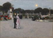 John Singer Sargent (American, 1856-1925) In the Luxembourg Gardens, 1879 Oil on canvas, 25 7/8 x 36 3/8 in.  Philadelphia Museum of Art: John G.  Johnson Collection, 1917, Cat.  1080.  Courtesy of the Philadelphia Museum of Art
