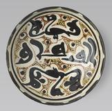 Bowl with inscription and birds, Iran, Nishapur, Samanid period, 10th century.  Harvard Art Museums/Arthur M.  Sackler Museum.