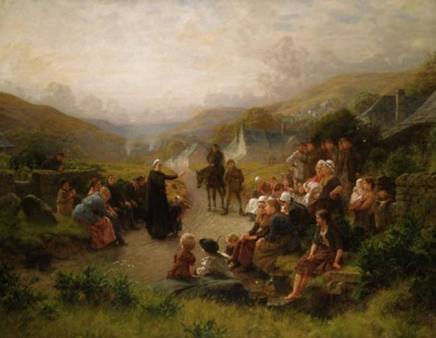 'Dinan Morris Preaching in Derbyshire' by Charles Gregory (1849-1920),oil on canvas, £18,000