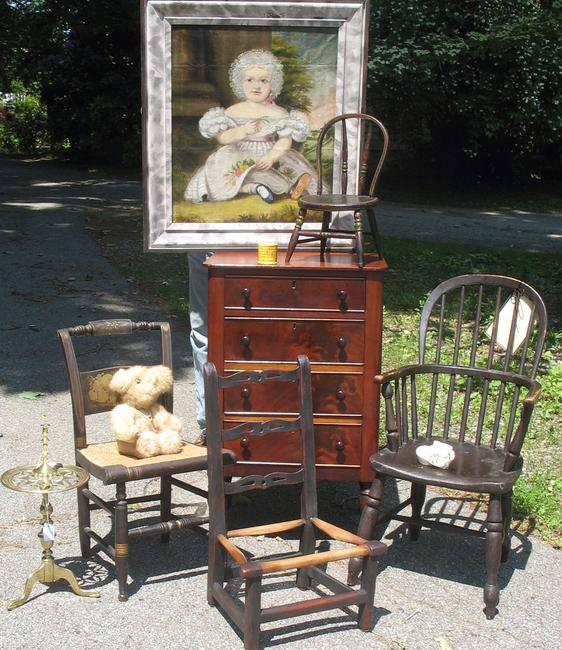 Children's furniture from Hanes and Ruskin Antiques.
