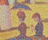 "Chris Jordan, partial zoom of ""Cans, Seurat"""