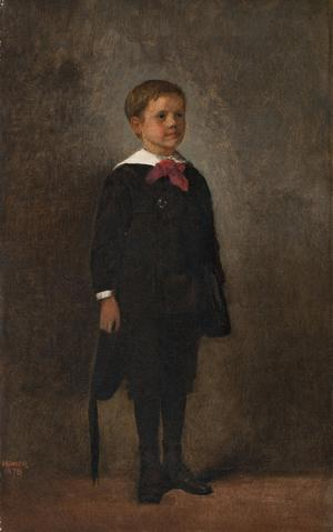 Winslow Homer (American, 1836-1910), Charles Prentice Howland, 1878.  Oil on canvas, 21 1/8 x 13 ¼ in.  Clark Art Institute.  Gift of Susan Montgomery Howell in Memory of Esther Howland Montgomery and Henry and David Howland, 2014.13