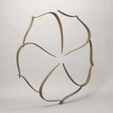 "Circular Form in Ten Pieces, 2013, 36"" x 35"" x 2"" Wenge, steel"