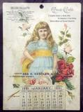 1891 was the first year Coke began producing calendars.  This is the earliest known example.
