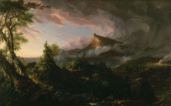 Thomas Cole (1801-1848) The Savage State, The Course of Empire, 1834.