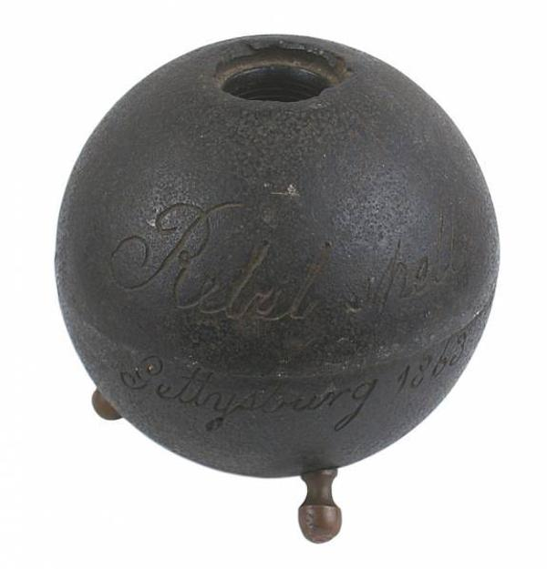 This Confederate cannonball from the Battle of Gettysburg in 1863 sold for $5,850 at an auction held June 13-14.