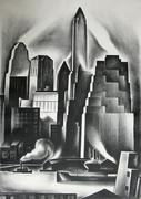 Howard Cook (1901-1980) Lower Manhattan, 1930 Lithograph 15 7/8 x 11 ½ inches Museum Purchase, 1980.7
