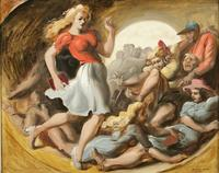 Reginald Marsh, Barrel of Fun, 1943