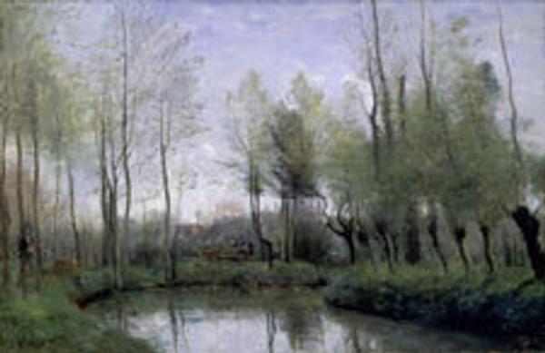 Jean-Baptiste Camille Corot, Park at Monsieur Wallet at Voincinlieu, 1866.  Oil on canvas.  Collection of Lady Ridley-Tree.