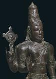 Figure of Vishnu, Bronze South India, Tamil Nadu Chola period, 12th century