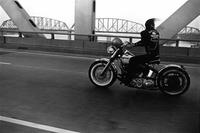 Danny Lyon, Crossing the Ohio, Louisville, 1966.  The Menil Collection, Houston, gift of Kenneth G.  Futter.  © 2012 Danny Lyon/Magnum Photos.  Courtesy the Edwynn Houk Gallery and Dektol.wordpress.com.