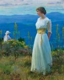 This oil on canvas rendering of a woman striking a wistful pose by Charles Courtney Curran sold for $192,000.