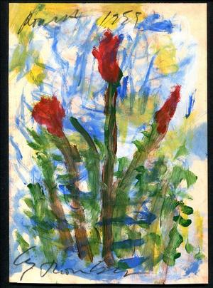 This original mixed media on paper by Cy Twombly (Am., 1928-2011) will come up for bid on Sunday, January 11th, in Lynbrook, New York.