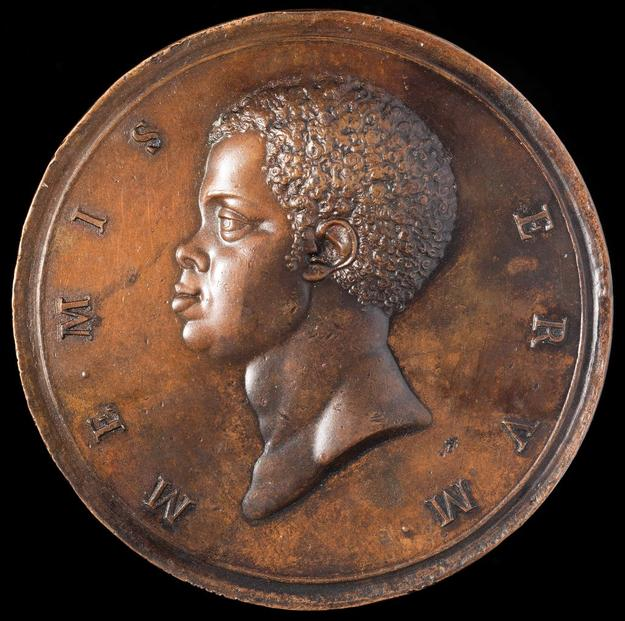 Abolition of the Slave Trade Medal (front), dies by Pietro Leonardo Gianelli, Denmark, 1792, bronze, Museum Purchase, Lasser Numismatics Fund; and Partial Gift, John Kraljevich