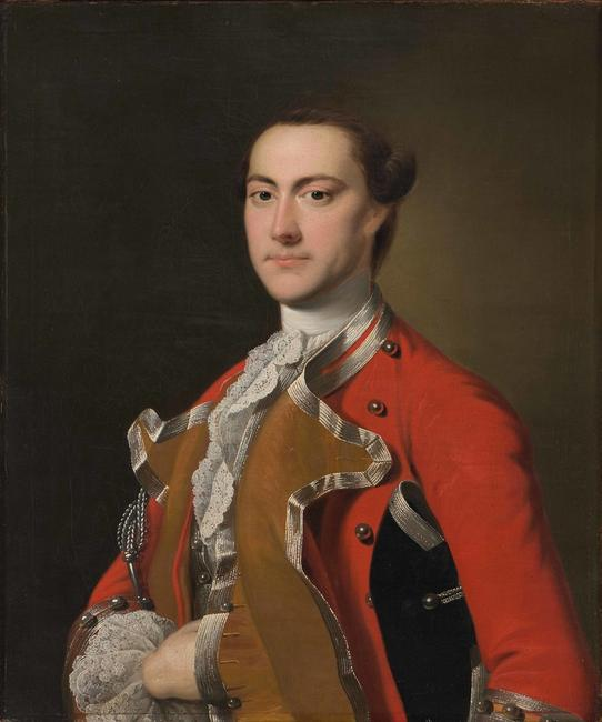 Captain Richard Bayly; Joseph Wright of Derby; Derby, England, 1760-1761; oil on canvas, CWF, The Friends of Colonial Williamsburg Collections Fund
