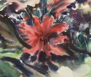 Dorothy Browdy Kushner, detail, Cannas and Acanthus, 1948