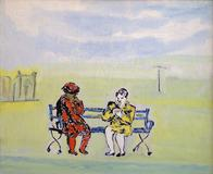 Two Women on a Park Bench (Rosa Parks)