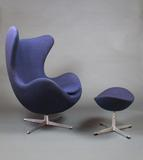 Egg chair and ottoman by Arne Jacobsen, designed in 1958 (Kirkland Museum of Fine and Decorative Art)