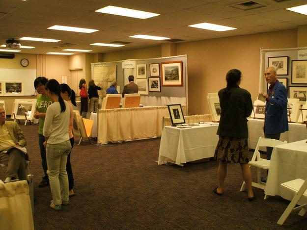 Visitors and dealers at the St.  Louis Fine Print, Rare Book and Paper Arts Fair