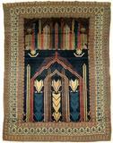 An Antique Pictorial Persian Seneh Wool Rug