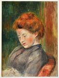 Lot 33 Pierre-Auguste Renoir (1841-1919) Tête de Femme, Oil on canvas,