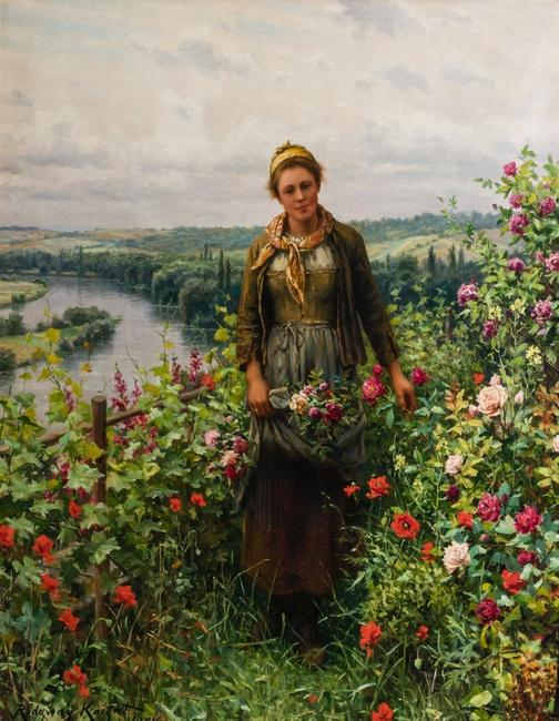 This original painting by Daniel Ridgway Knight is expected to realize $150,000-$250,000 at Shannon's Fine Art Auctioneers' April 23 auction.