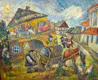 One of two original paintings by Russian artist David Burliuk to be auctioned Feb.  15-17 in Fla.