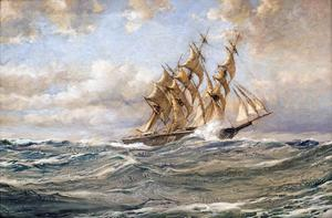 Three important nautical themed artworks by the renowned British painter Montague Dawson will be in the Oct.  26 auction.