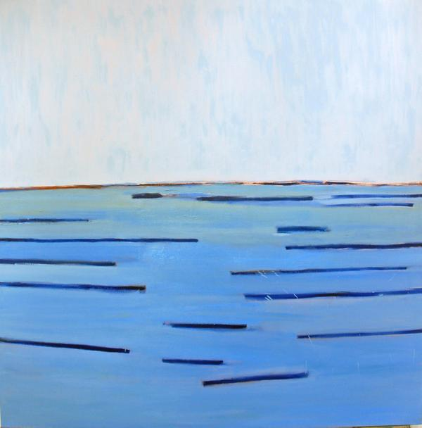 Elizabeth Enders, Ocean Blue Memory, 2009, oil on canvas, 60 x 60 in.