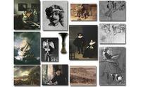 Thirteen artworks stolen from the Isabella Stewart Gardner Museum in 1990.