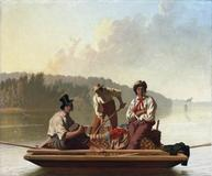 George Caleb Bingham (1811–1879) Boatmen on the Missouri, 1846.  Oil on canvas.  Fine Arts Museums of San Francisco, Gift of Mr.  and Mrs.  John D.  Rockefeller III