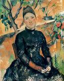Madame Cezanne in the Conservatory by Paul Cezanne