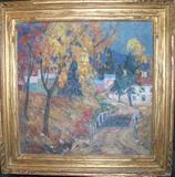"Fern Coppedge, ""October,"" 16 x 16 in., oil painting (1930's)."