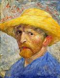 Vincent van Gogh, Self-Portrait with Straw Hat, 1887