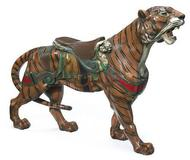 A Fine carved and painted carousel tiger by Gustav Dentzel, Philadelphia, circa 1905, sold for $45,000 at Bonhams on Dec.  6.