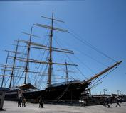 "The South Street Seaport Museum's 1911 four-masted barque ""Peking."""