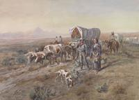 Charles M.  Russell (1864–1926) Last Chance or Bust, 1900.  Watercolor on paper.  C.  M.  Russell Museum, Great Falls, Montana, Gift of Mr.  and Mrs.  John D.  Stephenson.