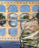 A stunning painting entitled Pont du Gard, Nimes by Sir Winston Churchill.