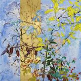 Robert Kushner, September Wildflower Convocation 2010.  Oil on canvas with gold leaf 72 x 72 inches.  Courtesy DC Moore Gallery.