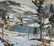 Aldro Thompson Hibbard (American, 1886-1972), Winter in New England, Probably a West River, Vermont View, Est.  $25,000-35,000