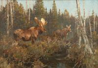 Carl Clemens Moritz Rungius (1869-1959), In the Cedar Swamp, Oil on canvas, 36 by 42 inches, Estimate: $150,000-$250,000.