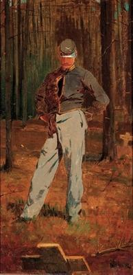 The Katonah Museum of Art exhibition includes Winslow Homer (1836-1910), Trooper Meditating Beside a Grave, 1865 (Joslyn Art Museum, Omaha, NE)