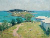 Clark Greenwood Voorhees, Looking Towards the Dockyard from Somerset.  Oil on canvas, 28 x 36 inches.