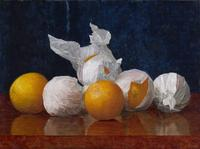 William J.  McCloskey (1859–1941) Wrapped Oranges, 1889.  Oil on canvas.  Amon Carter Museum of American Art, Fort Worth, Texas, acquisition in memory of Katrine Deakins, Trustee, Amon Carter Museum of American Art, 1961-1985