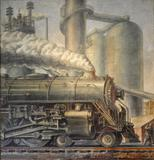 Reginald Marsh's The Locomotive, 1935, from GERALD PETERS GALLERY.